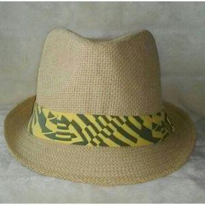 Yellow & Green Band Fedora Hat